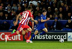 Ben Chilwell of Leicester City runs with the ball - Mandatory by-line: Robbie Stephenson/JMP - 18/04/2017 - FOOTBALL - King Power Stadium - Leicester, England - Leicester City v Atletico Madrid - UEFA Champions League Quarter-Final Second Leg