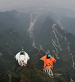 Swingsuiters Fly Above Tianmen Mountain