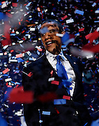 President Barack Obama celebrates his reelection at McCormick Place on election night in Chicago, Ill. on Wednesday, Nov. 7, 2012.