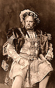 William Charles James Terriss (1847-1897) English actor killed at the  stage door of Adelphi, London, 16 December 1897, by an actor with a grudge.  Father of actress Ellaline Terris.  Here as the king in the history play  'Henry VIII' by William Shakespeare. Photogravure c1895.