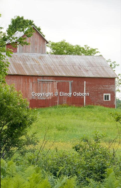 Barn with square silo