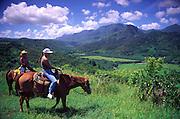 Horseback riding, Princeville, Hanalei, Kauai, Hawaii<br />