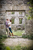 engagement photos at the derelict German Woolen Mill, Melissa & Stephan