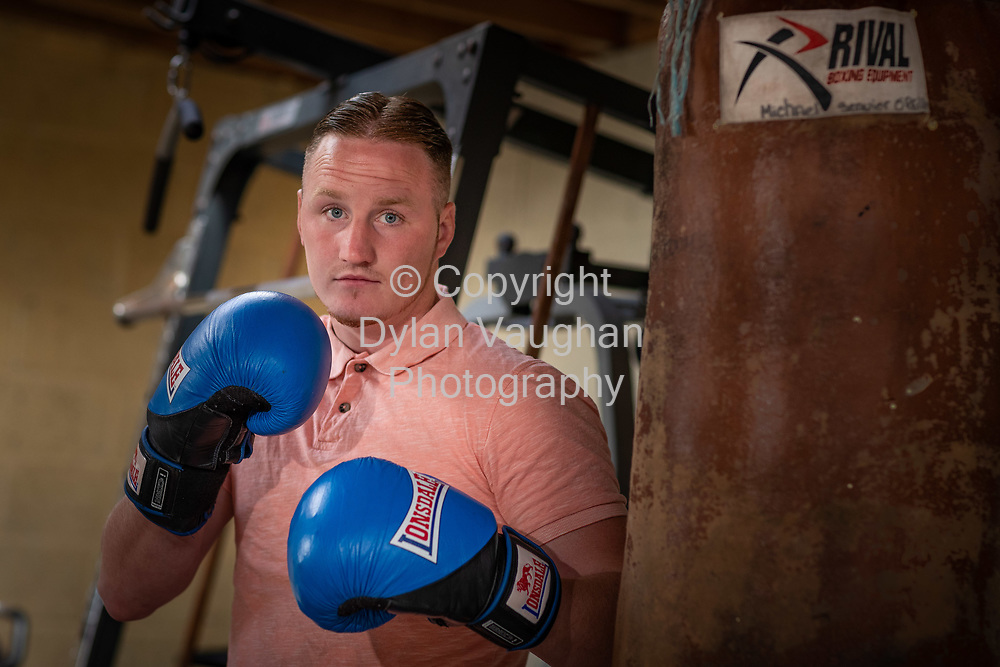10-8-18<br /> Boxer Michael O'Reilly pictured at his home near Portlaoise Co. Laois.<br /> <br /> Picture Dylan Vaughan.
