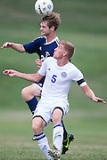 Sussex County Community College Men's Soccer sophomore Kyle Grunn (5) -Middlesex County College Men's Soccer at Sussex County Community College in Newton, NJ on Saturday September 6, 2014. (photo / Mat Boyle)