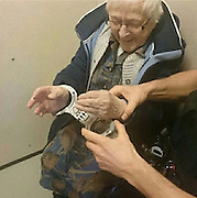"""99-Year-Old Woman Gets Arrested And Put In Jail for Her Bucket List<br /> <br /> 99-year-old Annie wanted to get arrested before the end of her lifetime, and her local police department was happy to help.<br /> <br /> According to an official Facebook statement from the Nijmegen-Zuid police station, Annie was """"briefly allowed"""" to sit in a cell with fastened handcuffs after officers picked her up from her home. Citizens who haven't committed a crime are usually not permitted in cells, but a rare exception was made for Annie.<br /> ©Nijmegen-Zuid policeExclusivepix Media"""