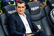 Ernesto Valverde, coach of FC Barcelona during the Spanish championship La Liga football match between FC Barcelona and Huesca on September 2, 2018 at Camp Nou Stadium in Barcelona, Spain - Photo Xavier Bonilla / Spain ProSportsImages / DPPI / ProSportsImages / DPPI