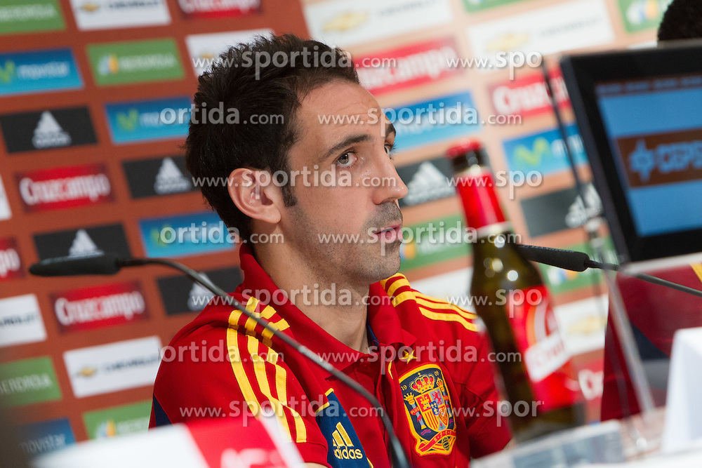 24.05.2012, Haus des Gastes, Schruns, AUT, UEFA EURO 2012, Trainingslager, Spanien, Pressekonferenz, im Bild Juanfran (Juan Francisco Garcia Garcia) (ESP) // Juanfran (Juan Francisco Garcia Garcia) of Spain during Pressconference of Spanish National Footballteam for preparation UEFA EURO 2012 at Haus des Gastes, Schruns, Austria on 2012/05/24. EXPA Pictures © 2012, PhotoCredit: EXPA/ Johann Groder
