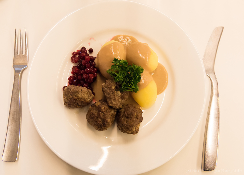 Meatball lunch at Volvo's Visitor Centre