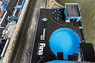 High DivingTower and pool<br /> Day 17 30/07/2017<br /> XVII FINA World Championships Aquatics<br /> Batthy&aacute;ny Square  Buda embankment of the Danube<br /> Budapest Hungary <br /> Photo Giorgio Scala/Deepbluemedia/Insidefoto