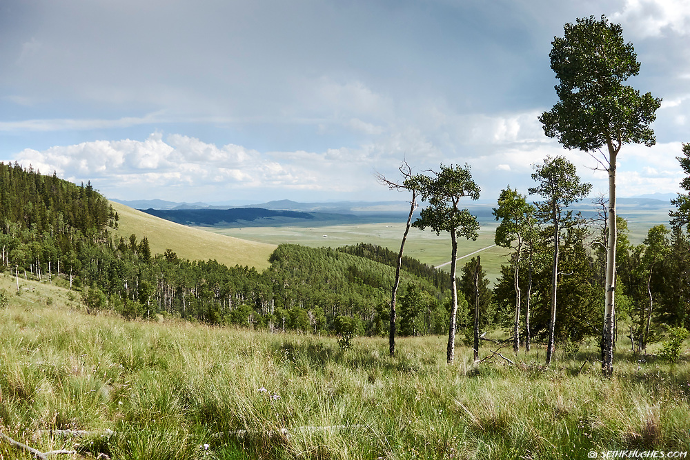 A view of highway 285 and South Park, Colorado from Kenosha Pass.