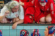 03-05-2014 : WATERPOLO : ZVL - UZSC : LEIDEN<br /> <br /> <br /> Play-offs Eredivisie Dames - Seizoen 2013/2014<br /> <br /> Foto: Gertjan Kooij