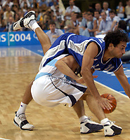 29/08/04 - ATHENS  - GREECE -  - BASKETBALL SEMIFINAL MATCH   - Indoor Olympic Stadium - <br />