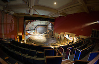 Renovation work done by Bonnette, Page and Stone at the Colonial Theater in downtown Laconia.  Upper balcony/stage area.  ©2016 Karen Bobotas Photographer