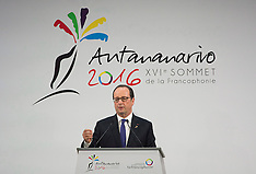 Antananarivo - 16th Francophone Summit In Madagascar - 26 Nov 2016