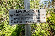 Kachemak Bay State Parks trail sign