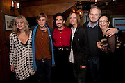 Sonia Friedman, Johnny Flynn, Mark Rylance, Mackenzie Crook; Dominic Cooke; Kate Horton , Opening in the West end of the Royal Court's Jerusalem after a run on Broadway..<br /> WAXY O CONNORS, 14-16 RUPERT STREET, LONDON . 17 October 2011.  <br /> <br />  , -DO NOT ARCHIVE-© Copyright Photograph by Dafydd Jones. 248 Clapham Rd. London SW9 0PZ. Tel 0207 820 0771. www.dafjones.com.