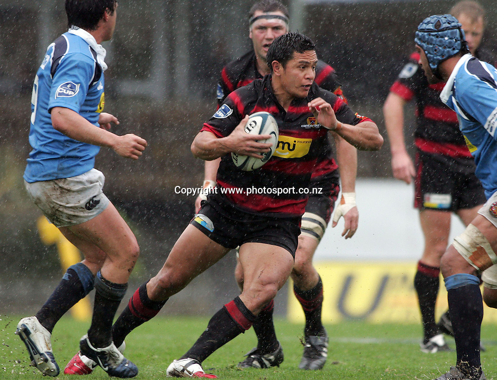 Kevin Senio in action during the Air New Zealand Cup rugby union match between Northland and Canterbury at ITM Stadium, Whangarei, New Zealand on Saturday 5 August, 2006. Canterbury won the match 25 - 11. Photo: Hannah Johnston/PHOTOSPORT<br />