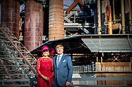 12-10-2018 - VOLKLINGEN - King Willem-Alexander and Queen Maxima during Völklinger Hütte, meeting on 'European industry and work culture' (Völklingen) . The royal couple brings a working visit to the German federal states Rhineland-Palatinate and Saarland.  ROBIN UTRECHT