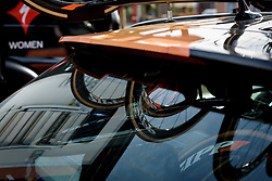Reflections at Drentse 8 2017. A 143 km road race on March 12th 2017, starting and finishing in Dwingeloo, Netherlands. (Photo by Sean Robinson/Velofocus)
