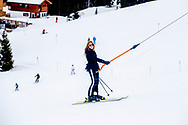 King Willem-Alexander, Queen Maxima, Princess Amalia, Princess Alexia, Princess Ariane, Princess Beatrix, Prince Constantijn, Princess Laurentien, Countess Eloise, Count Claus-Casimir and Countess Leonore during the annual photo session during their wintersport holidays in Lech am Arlberg, Austria, 25 February 2020.