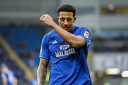 Nathaniel Mendez-Laing of Cardiff City during the EFL Sky Bet Championship match between Cardiff City and Millwall at the Cardiff City Stadium, Cardiff, Wales on 28 October 2017. Photo by Andrew Lewis.