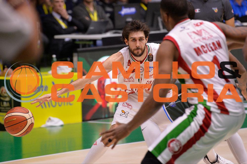 Davide Pascolo<br /> Olimpia EA7 Emporio Armani Milano vs Enel Brindisi<br /> LegaBasket Final Eight Coppa Italia Poste Mobile 2017<br /> Rimini 16/02/2017<br /> Foto Ciamillo-Castoria/ I.Mancini