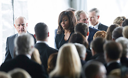 U.S. First Lady Michelle Obama attends the funeral of former U.S. First Lady Nancy Reagan in Simi Valley, California, March 11, 2016. Nancy Reagan died of heart failure last Sunday at the age of 94. EXPA Pictures © 2016, PhotoCredit: EXPA/ Photoshot/ Yang Lei<br /> <br /> *****ATTENTION - for AUT, SLO, CRO, SRB, BIH, MAZ, SUI only*****