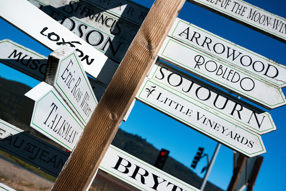 Sonoma Wineries Sign   March 9, 2013