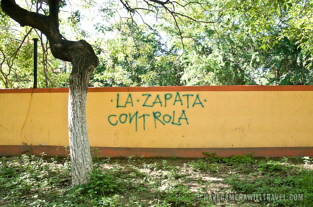 Graffiti referencing Emilano Zapata (1879-1919) a leading figure in the Mexican Revolution