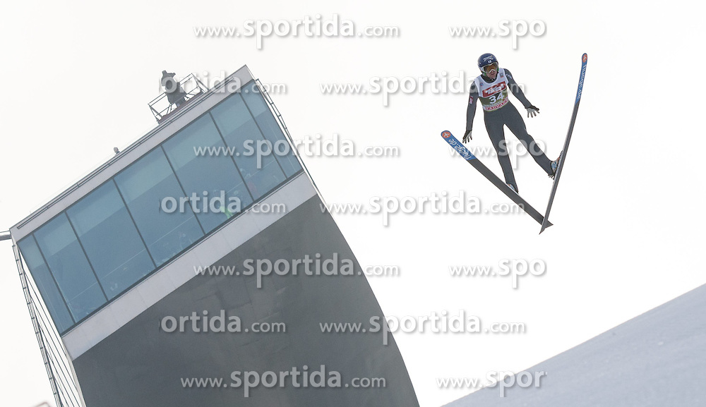 03.01.2015, Bergisel Schanze, Innsbruck, AUT, FIS Ski Sprung Weltcup, 63. Vierschanzentournee, Innsbruck, Training, im Bild Anssi Koivuranta (FIN) // Anssi Koivuranta of Finland soars through the air during a training session for the 63rd Four Hills Tournament of FIS Ski Jumping World Cup at the Bergisel Schanze in Innsbruck, Austria on 2015/01/03. EXPA Pictures © 2015, PhotoCredit: EXPA/ Jakob Gruber