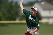 West Deptford's Danny Riley pitches in the first inning during a elimination bracket game of the Eastern Regional Senior League tournament held in West Deptford on Monday, August 8.