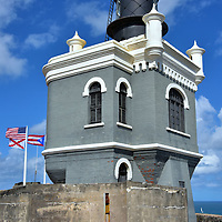 Lighthouse at El Morro in San Juan, Puerto Rico<br />