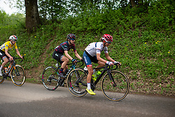 Ashleigh Moolman-Pasio of Cervelo Bigla climbs in the third short loop on Stage 2 of the Festival Elsy Jacobs - a 111.1 km road race, starting and finishing in Garnich on April 29, 2018, in Luxembourg. (Photo by Balint Hamvas/Velofocus.com)