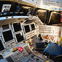 Space Shuttle Endeavour (OV-105) a view from the commander's seat looking at the pilot seat