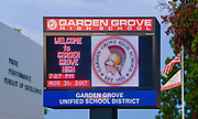 Garden Grove High School Marquee Signage