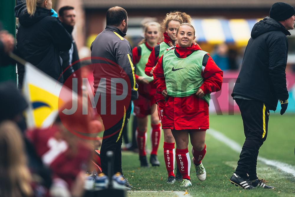 Paige Sawyer of Bristol City Women - Rogan Thomson/JMP - 06/11/2016 - FOOTBALL - The Northcourt Stadium - Abingdon-on-Thames, England - Oxford United Women v Bristol City Women - FA Women's Super League 2.
