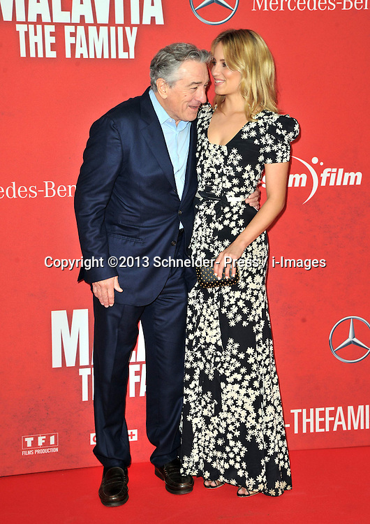 Actor Robert de Niro with Dianna Agron attends the 'Malavita - The Family' Germany premiere at Kino in der Kulturbrauerei, Berlin, Germany on October 15, 2013. Picture by Schneider- Press / i-Images<br /> UK & USA ONLY