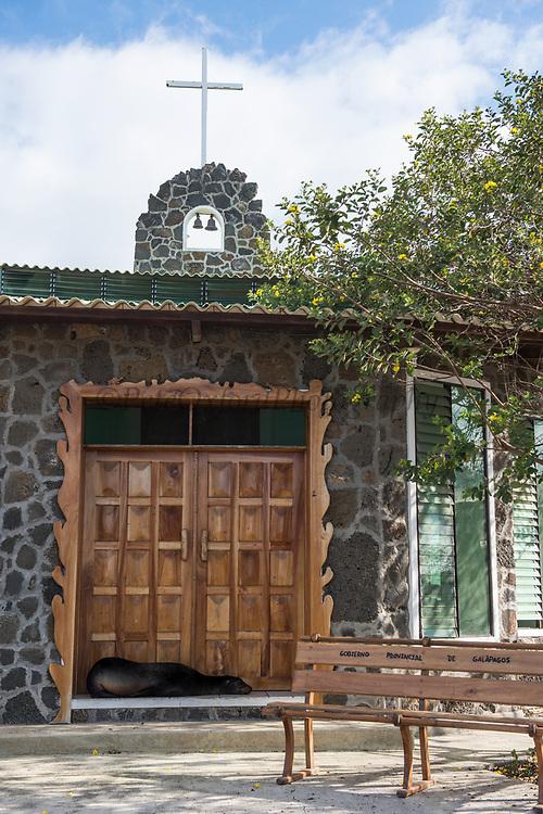 Church<br /> Velasco Ibarra Town<br /> Floreana<br /> Galapagos<br /> Ecuador, South America