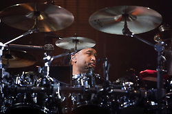 DMB drummer Carter Beauford. The Dave Matthews Band performed at the John Paul Jones Arena on the Grounds of the University of Virginia in Charlottesville, VA on April 17, 2009