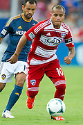 FRISCO, TX - AUGUST 11:  David Ferreira #10 of FC Dallas chases down a loose ball against the Los Angeles Galaxy on August 11, 2013 at FC Dallas Stadium in Frisco, Texas.  (Photo by Cooper Neill/Getty Images) *** Local Caption *** David Ferreira
