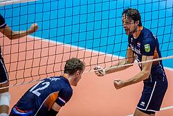 18-08-2017 NED: Oefeninterland Nederland - Italië, Doetinchem<br /> De Nederlandse volleybal mannen spelen hun eerste oefeninterland van twee in SaZa topsporthal tegen Italie als laatste voorbereiding op het EK in Polen. Nederland verliest met 3-0 / Thomas Koelewijn #15