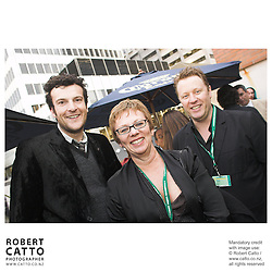 Oliver Driver;Jonathan King;Philippa Campbell at the Toronto International Film Festival 2006 at the Shotover Bar, Yorkville, Toronto, Ontario, Canada.
