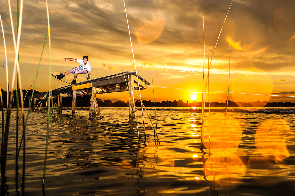 Brian Reeder shot for Transworld Wakeboarding on Clear Lake in Orlando, Florida.