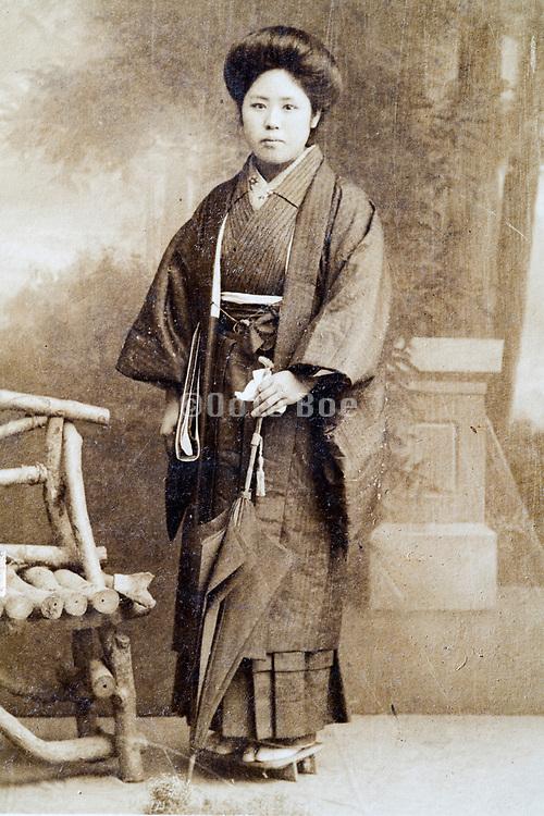 Japanese woman studio portrait ca 1930s