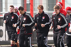 06.03.2011, Trainingsgelaende, Muenchen, GER, 1.FBL, Training FC Bayern Muenchen , im Bild  Toni Kroos (Bayern #39) Miroslav Klose (Bayern #18) Andreas Ottl (Bayern #16) Thomas Kraft (Bayern #35)  EXPA Pictures © 2011, PhotoCredit: EXPA/ nph/  Straubmeier       ****** out of GER / SWE / CRO  / BEL ******