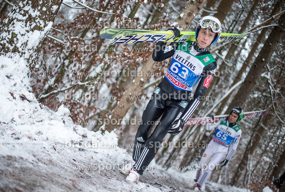 05.01.2015, Paul Ausserleitner Schanze, Bischofshofen, AUT, FIS Ski Sprung Weltcup, 63. Vierschanzentournee, Training, im Bild Rune Velta (NOR) // during Training of 63rd Four Hills <br /> Tournament of FIS Ski Jumping World Cup at the Paul Ausserleitner Schanze, Bischofshofen, Austria on 2015/01/05. EXPA Pictures &copy; 2015, PhotoCredit: EXPA/ JFK