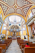 Interior of the Parroquia Santa María Magdalena church in Xico, Veracruz, Mexico.