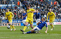 Photo: Steve Bond/Richard Lane Photography. Leicester City v Cardiff City. Coca Cola Championship. 13/03/2010. Martyn Waghorn scores for Leicester