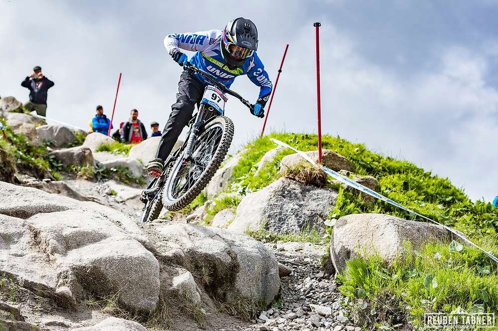 Taylor Vernon during Sunday practise at the UCI Mountain Bike World Cup in Fort William.